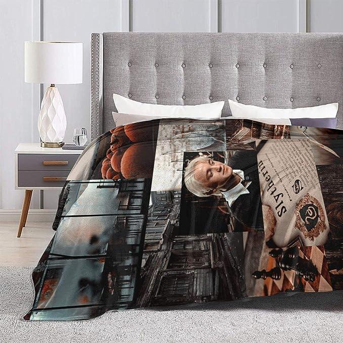 VJSDIUD Draco Malfoy Fuzz Warm Throw Sherpa Throw Blanket Sofa Couch Leggero Super Soft Cozy Bed 50 X40