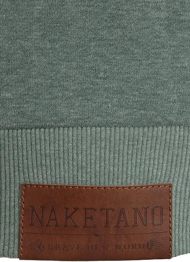Naketano Damen Sweatjacke, leaf green melange, XX Large