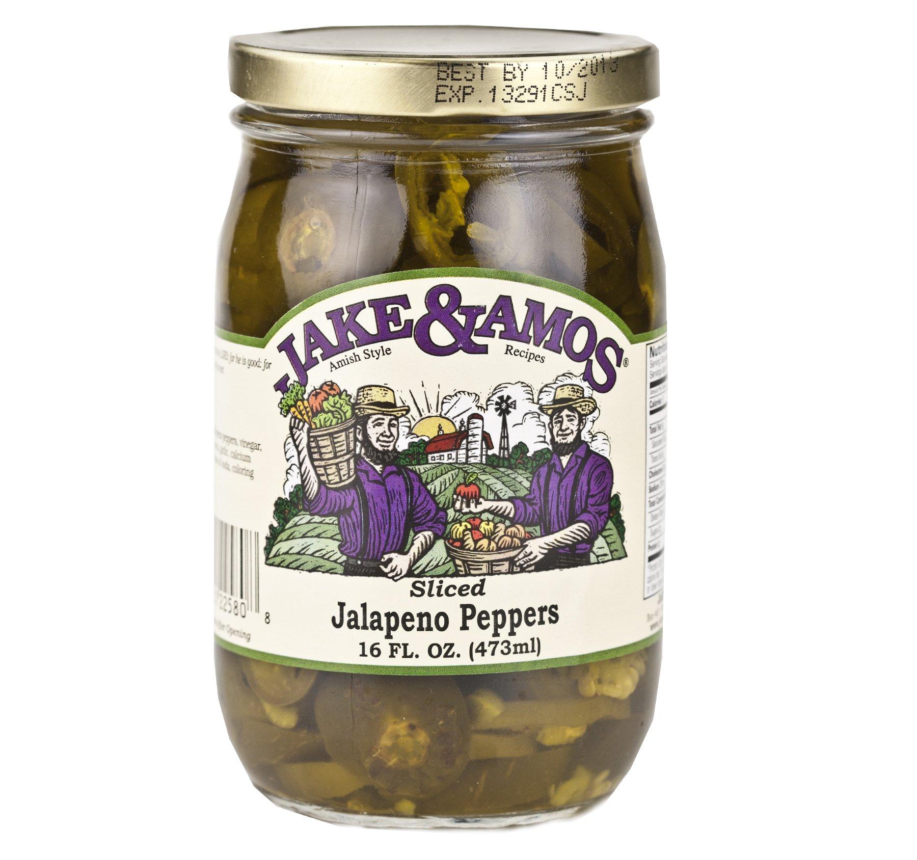 Jake & Amos Sliced Jalapeno Peppers 16 oz. (3 Jars)