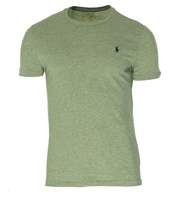 caa38092 Polo Ralph Lauren Men's Short-Sleeve Jersey Crewneck T-Shirt (Small, Grey