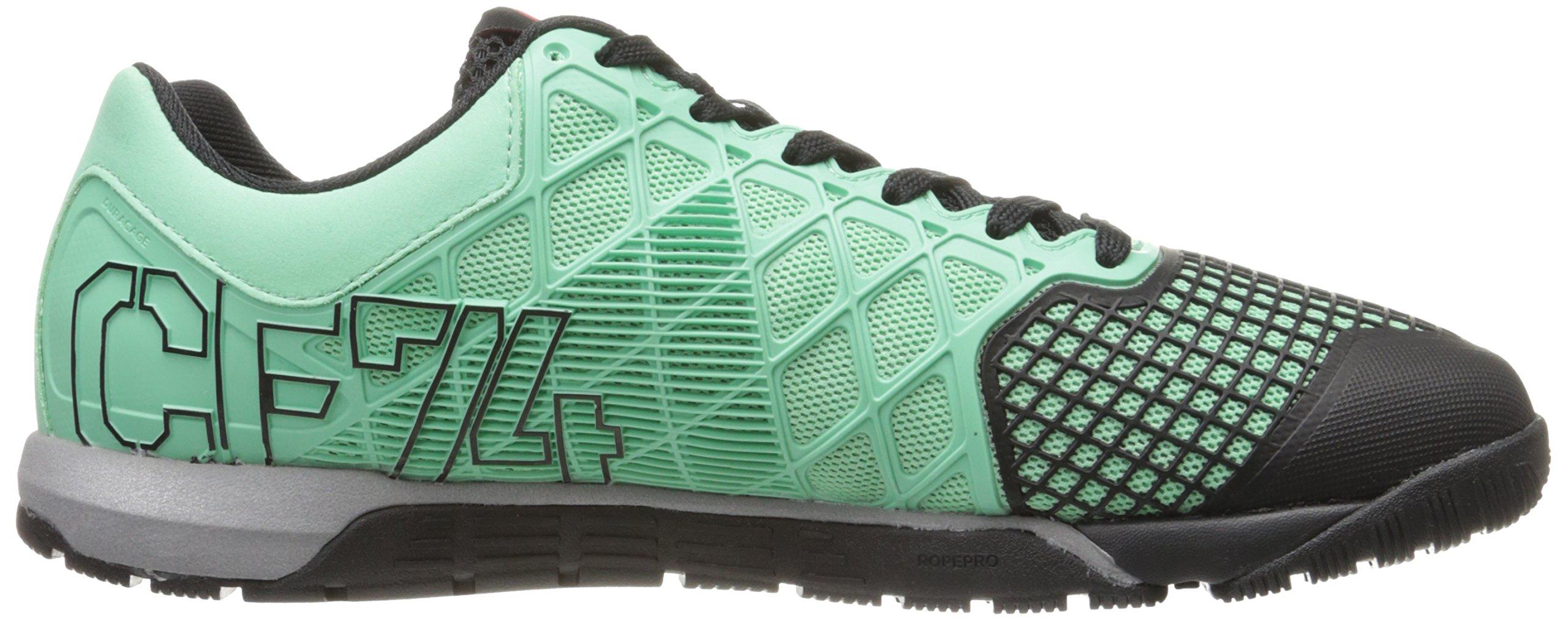 Reebok Men's Crossfit Nano 4.0 Training Shoe, Mint Glow/Black/Metallic Silver, 8 M US