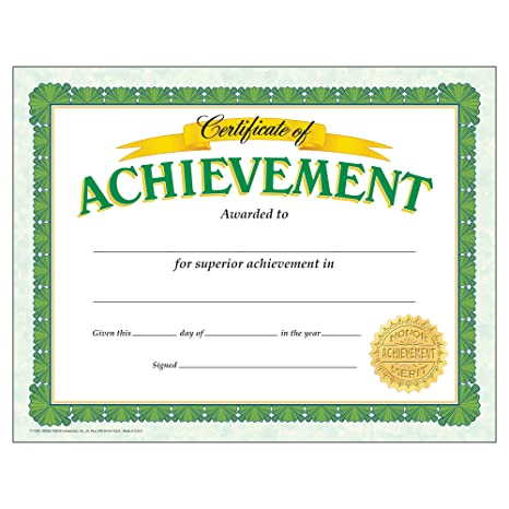 Amazon.com : Certificate Of Achievement Classic Certificates; 30 Per ...