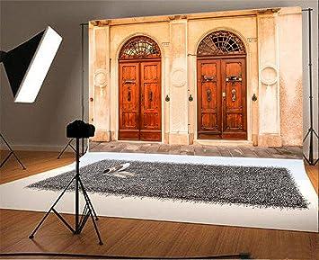 Amazon Com Laeacco 7x5ft European Old Church Front Door Scene