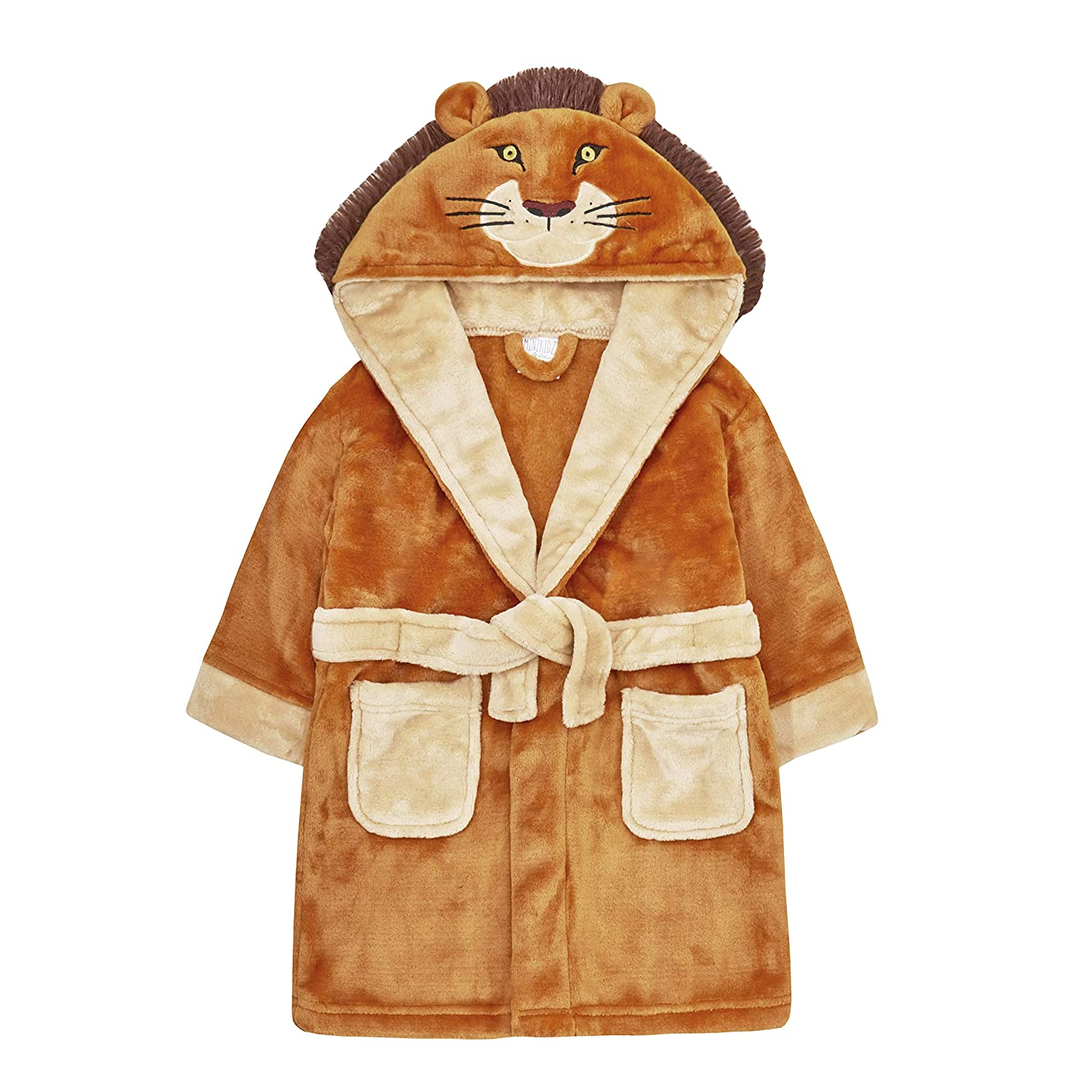Minikidz Childrens Novelty Lion Dressing Gown with Tail