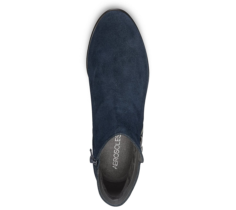 Aerosoles Women's Mythology Boot B06Y61BRLK 7.5 W US|Dark Blue Suede