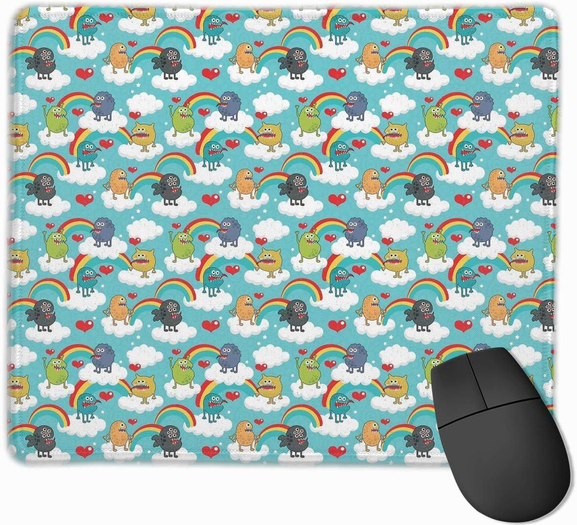 Almohadilla para el Mouse de la Base del Juego cómodo de Calidad del Virus de Las bacterias de la Historieta con el tamaño Cosido 11.81 * 9.84 de los Bordes cosidos: Amazon.es: Electrónica