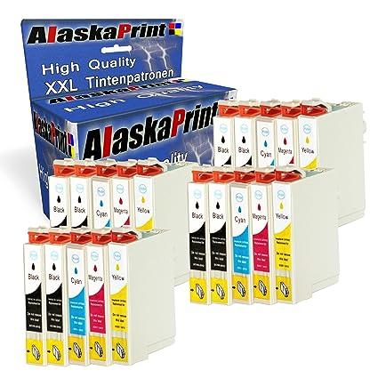 Alaskaprint 20 Cartucho Reemplazo para Epson T0711 T0712 T0713 ...