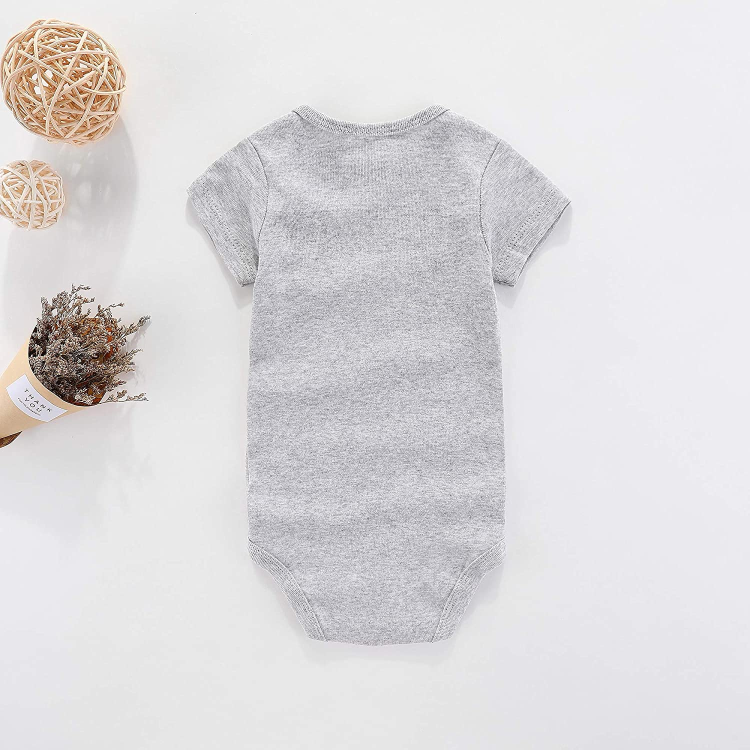 WINZIK Baby Cotton Bodysuit Hand Picked for Earth by My Grandma in Heaven Romper Newborn Boy Girl One-Piece Outfit Clothes