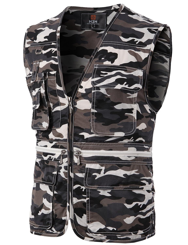 H2H OUTERWEAR メンズ B01DJY9RBG L|Kmov0113-camouflage Kmov0113-camouflage L