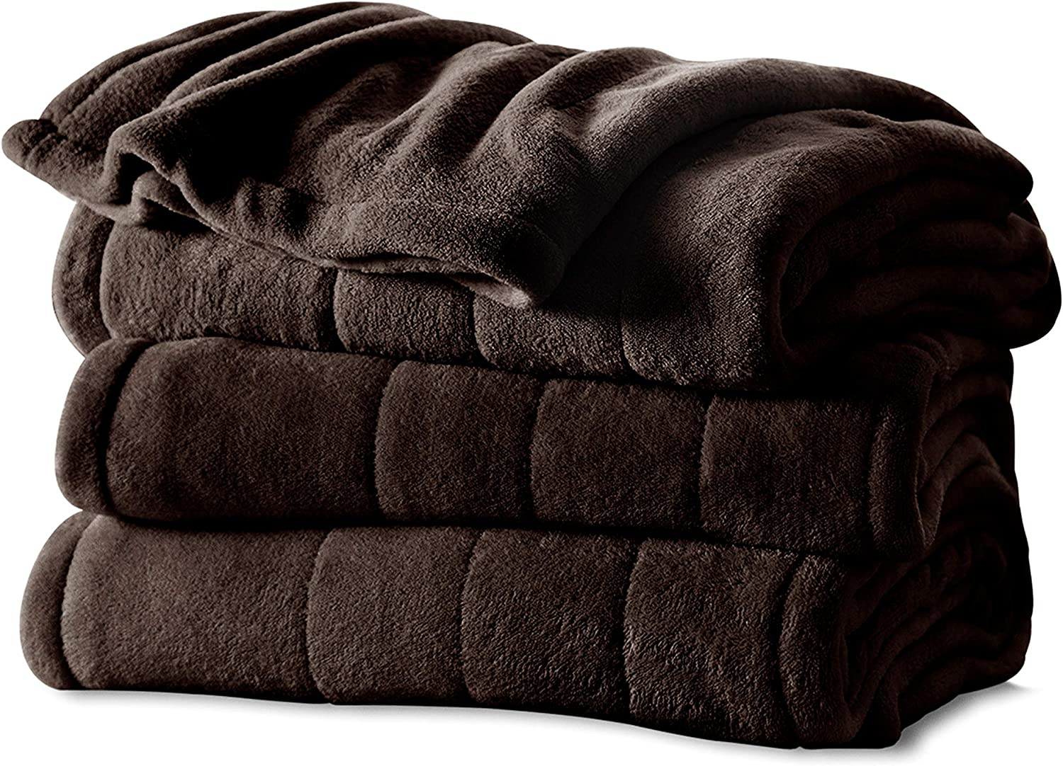#1 Selling Sunbeam Heated Fleece Electric Blanket in a Twin Size Dont Overpay for a Throw Royal Blue Get a Bigger Warming Fleece Blanket with Better Technology!!! A Long 10 Hour Shut Off with a 6 Foot Cord Makes It an Ideal Buy in Bedding