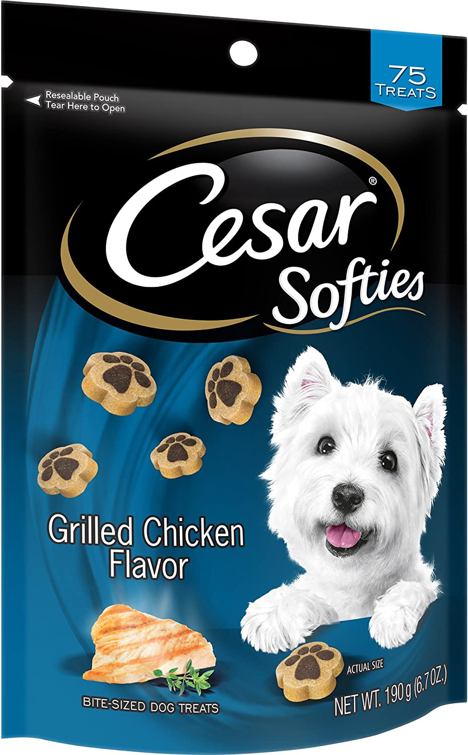 Cesar Canine Cuisine Softies Dog Treats, Grilled Chicken Flavor, 75 Count