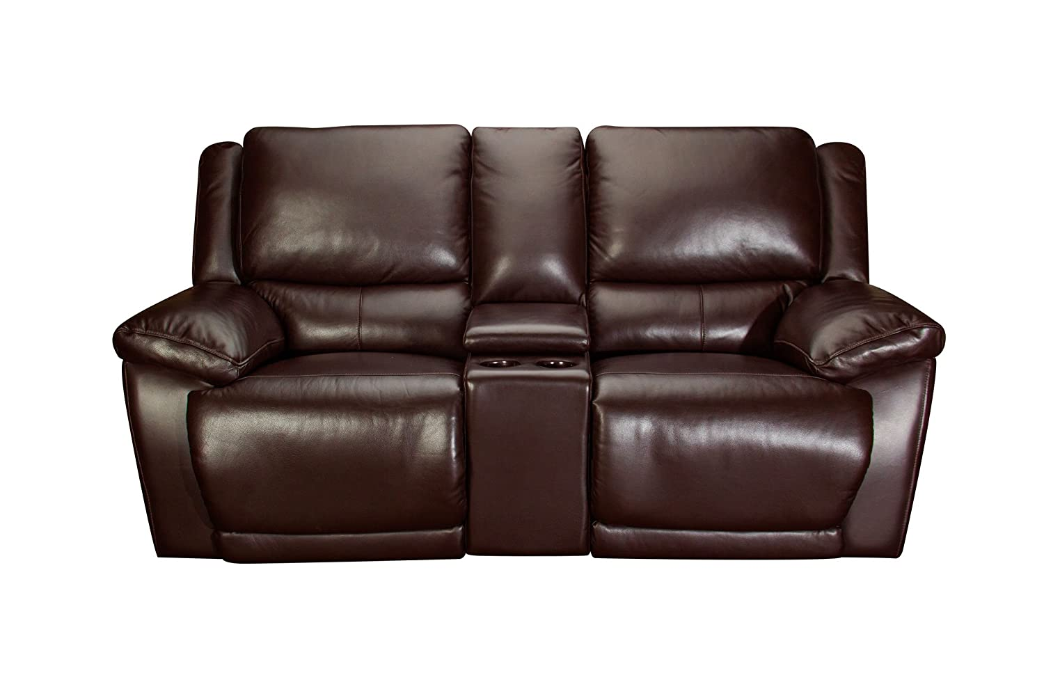Amazon.com: Creed Leather Power Reclining Loveseat with ...