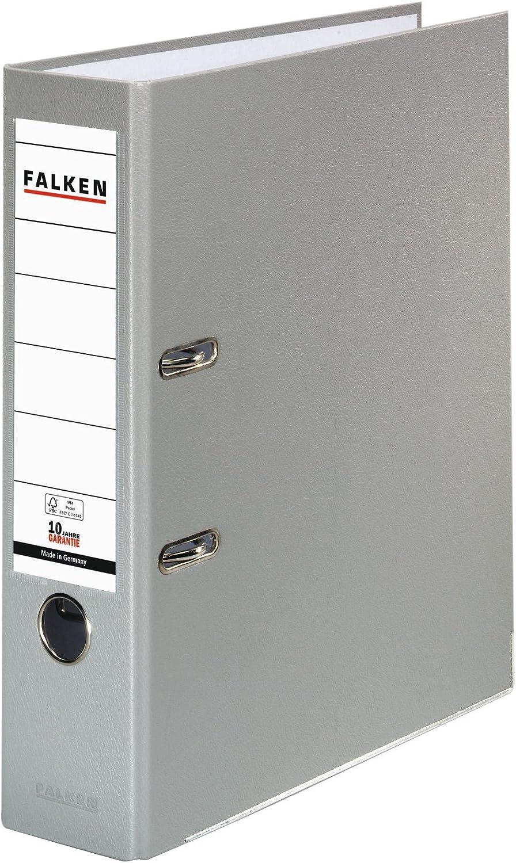 Original Falken 3er Pack PP-Color Kunststoff-Ordner Made in Germany 8 cm breit DIN A4 wei/ß Vegan Ringordner Aktenordner Briefordner B/üroordner Plastikordner Schlitzordner