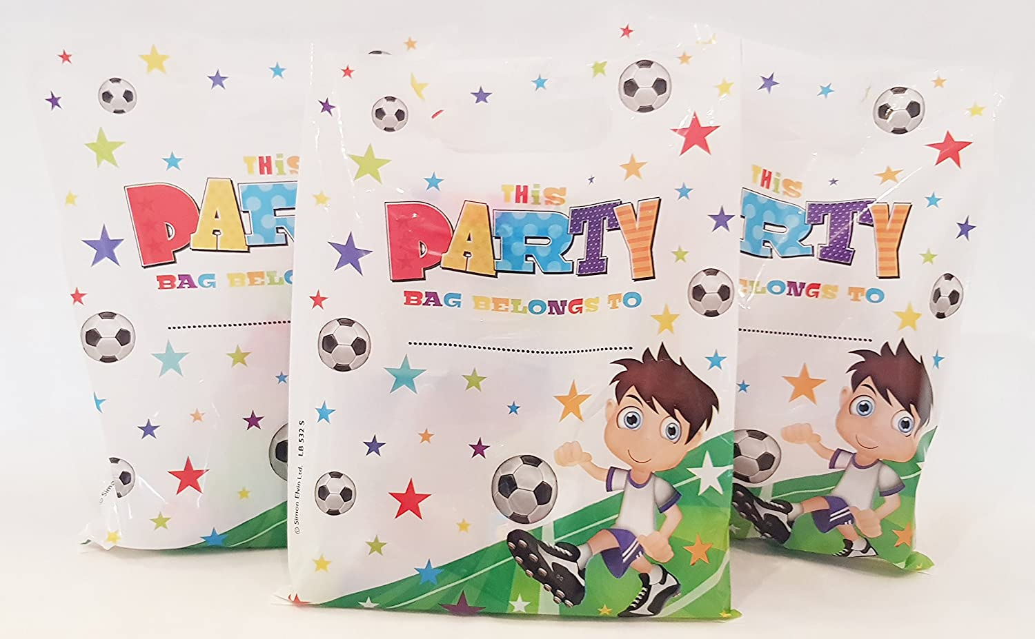 50 x FOOTBALL OPEN pre filled ready made party bags   loot bags   goody bags with favours and sweets for boys and girls (SE)