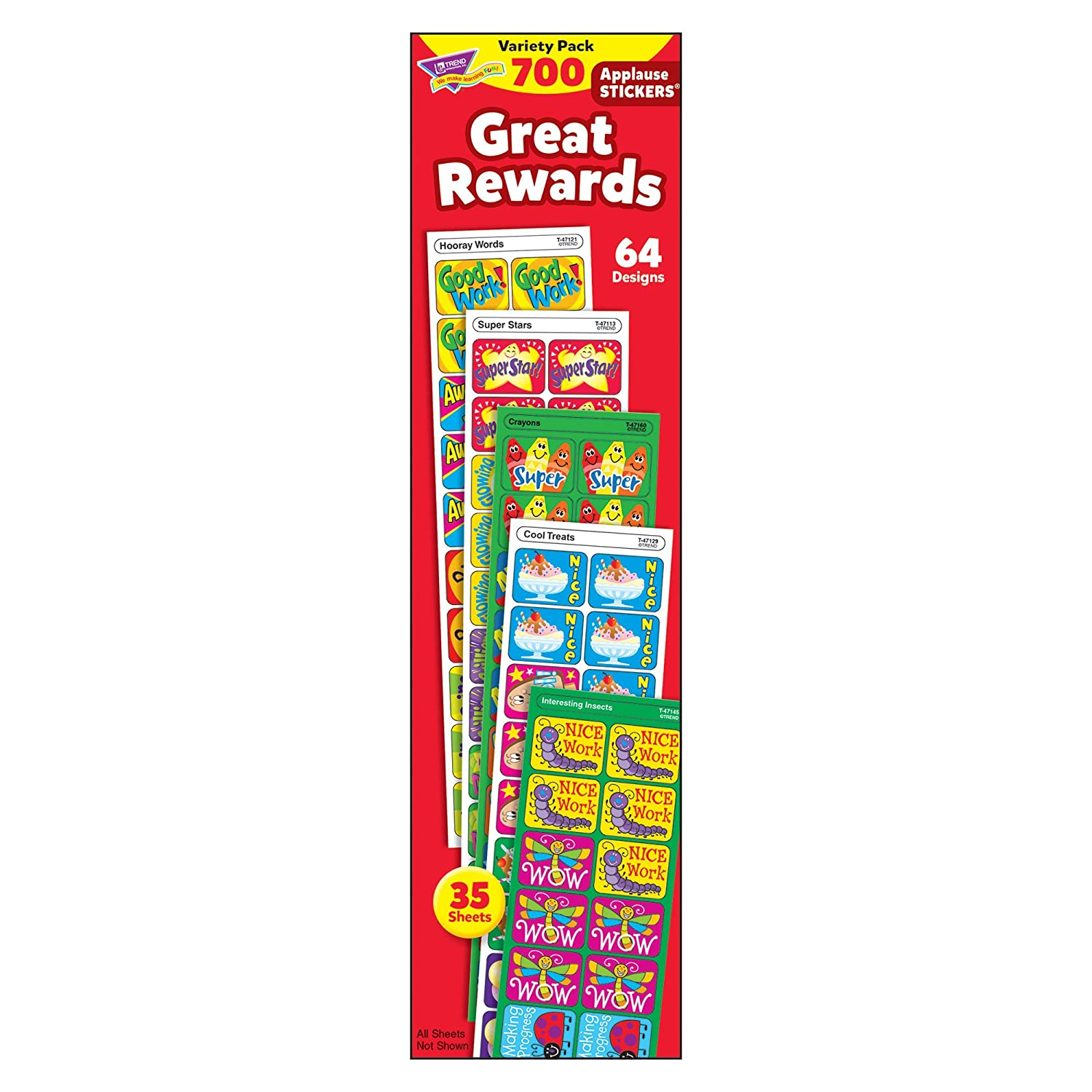 Applause Stickers Variety Pack, Great Rewards, 700/Pack TREND T-47910