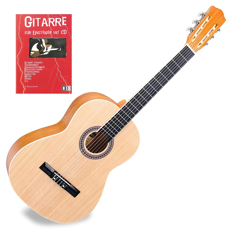 Classic Cantabile Acoustic AS-854 (Lindenholz Korpus, inkl. Gitarrenschule mit CD)