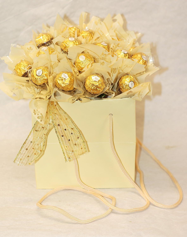 Ferrero rocher bouquet cream gift bag amazon grocery izmirmasajfo Images
