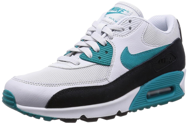Nike Wmns Air Max 90 Essential Herren Sport  Outdoorschuhe  37.5 EU|Mehrfarbig (Pr Pltnm/Rdnt Emrld-blk-smmt W)