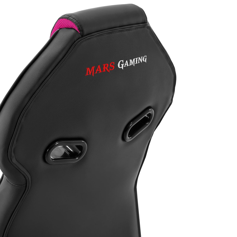 Mars Gaming MGC118 - Silla gaming profesional (inclinación y altura regulables, reposacabezas acolchado, pistón de clase 4, ergonómica), rosa: Amazon.es: ...