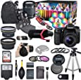 Canon EOS 80D DSLR Camera Deluxe Video Kit with Canon EF-S 18-55mm f/3.5-5.6 is STM Lens +Video Pro Microphone + SanDisk 32GB SD Memory Card + Accessory Bundle