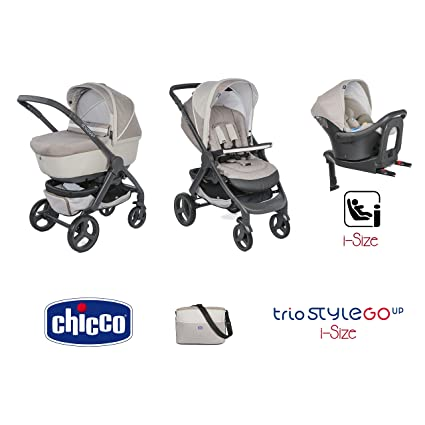 Trio stylego Up i-size cochecito + portabebés + siège-auto Beige – Chicco