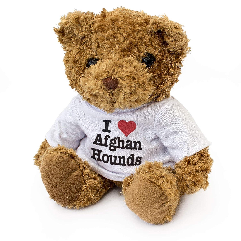 Dog Gift Present Cute Soft Cuddly I Love Afghan Hounds Teddy Bear