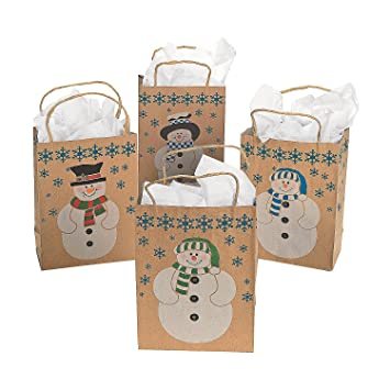 Amazon medium paper snowman gift bags health personal care medium paper snowman gift bags negle Image collections