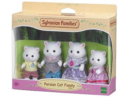 SYLVANIAN FAMILIES- Persian Cat Family Mini muñecas y Accesorios, (Epoch para Imaginar 5216)