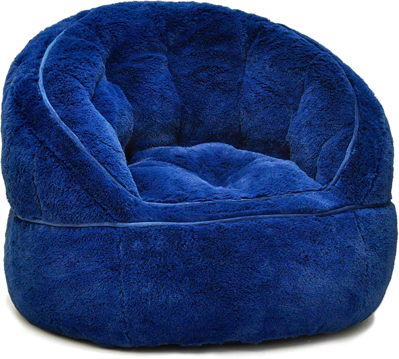 Amazon Heritage Kids Toddler Rabbit Fur Bean Bag Chair Pink