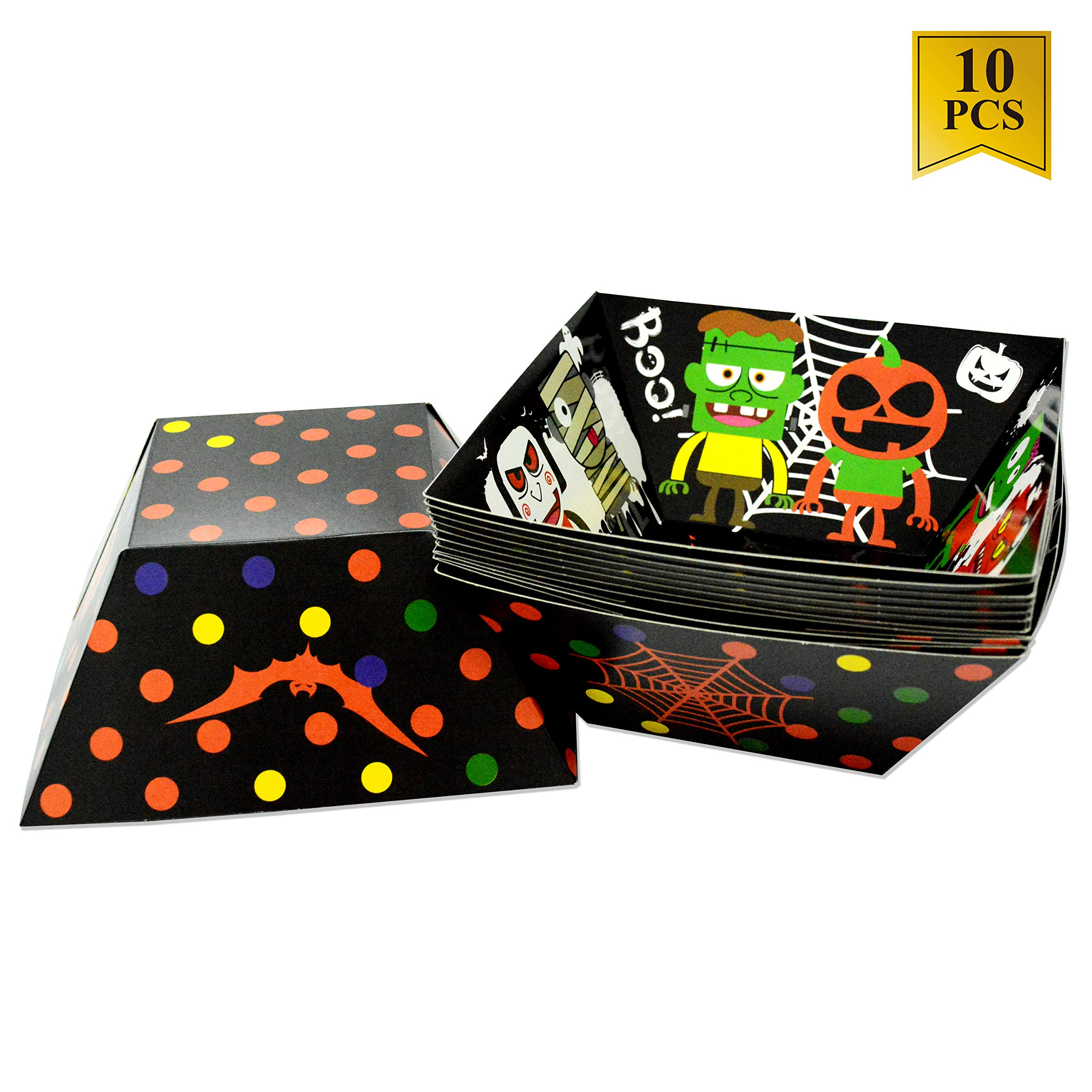 Amazon 10 Pack Halloween Bowl Paper Candy Bowl Food Tray for