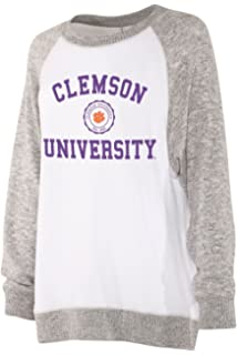 Washington Huskies Womens Apparel chicka-d NCAA Officially Licensed University of Washington Ladies Looped Terry Snap Pullover//Quarter Button Up//Sweater
