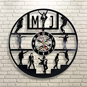Michael Jackson Singer Modern Vinyl Wall Clock Stylish Wall Decor Original Handmade Gift Ideas for Him and Her Vintage Gift Birthday Gift Idea Holiday Party Musical Festival Gift For Music Lovers Him