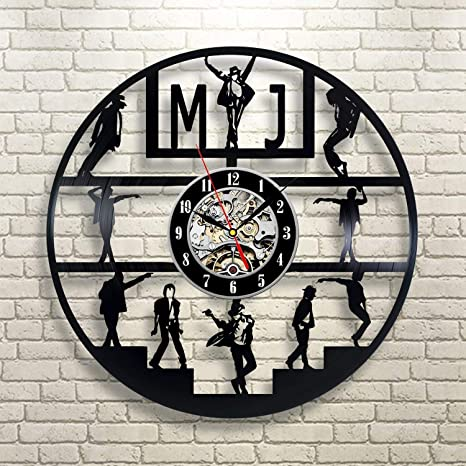 Amazon Com Michael Jackson Singer Modern Vinyl Wall Clock Stylish Wall Decor Original Handmade Gift Ideas For Him And Her Vintage Gift Birthday Gift Idea Holiday Party Musical Festival Gift For Music Lovers