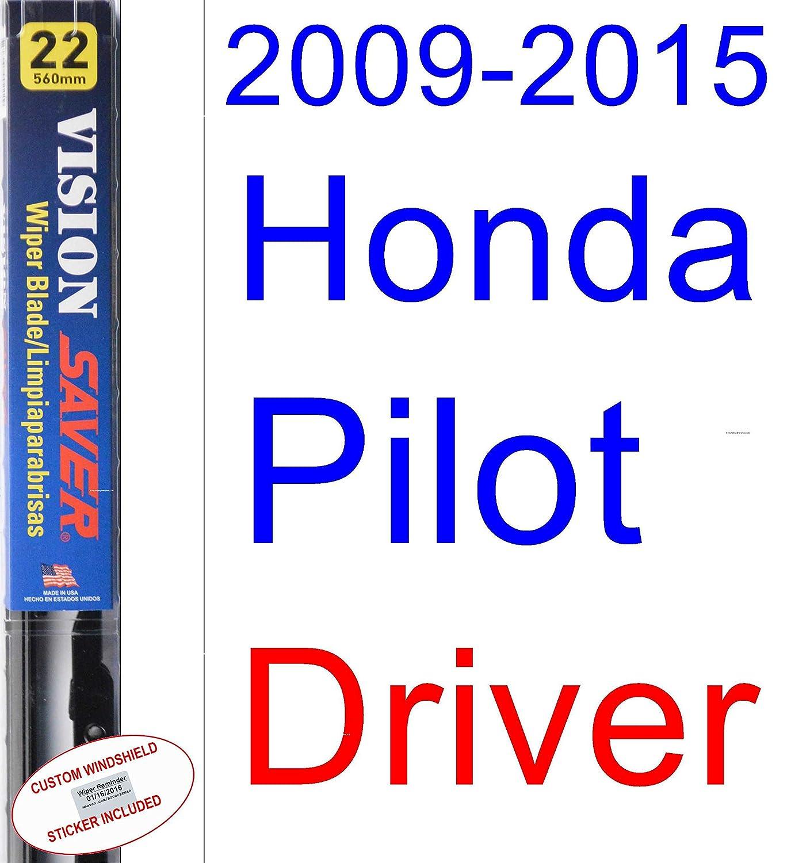 Amazon.com: 2009-2015 Honda Pilot Replacement Wiper Blade Set/Kit ...