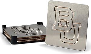 YouTheFan NCAA Boasters, 4-Piece Stainless Steel Laser-Cut Team Coaster Set