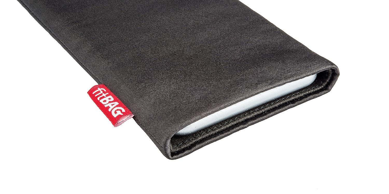 Doublure en Microfibre pour Le Nettoyage de l/'/écran Fabriqu/é en Allemagne fitBAG Rave Noir en Tissu Pochette customis/ée adapt/ée Housse de Protection pour Apple iPhone 8 Plus
