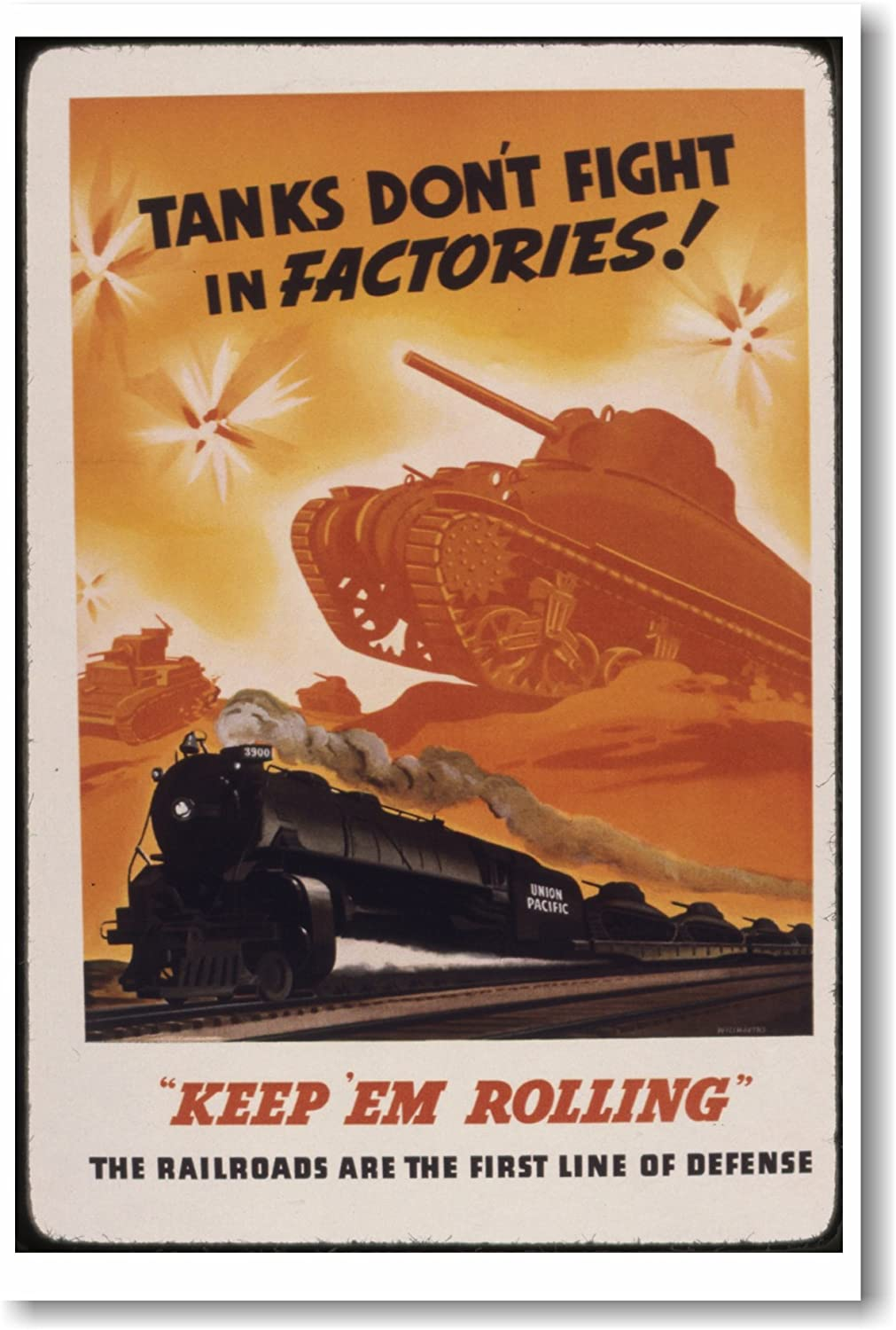 NEW Vintage Reprint POSTER Tanks Don/'t Fight In Factories