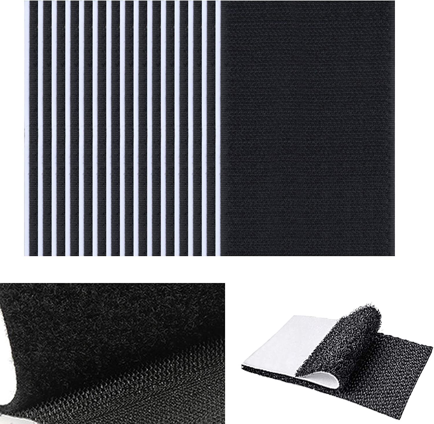 32 Pcs Couch Cushions, Keep Couch Cushions from Sliding, Couch Non Slip Pads Hook and Loop Tapes Strips, Couch Cushion Non Slip Pads Heavy Duty Strips with Adhesive, 16 Pairs, 6x4 Inch