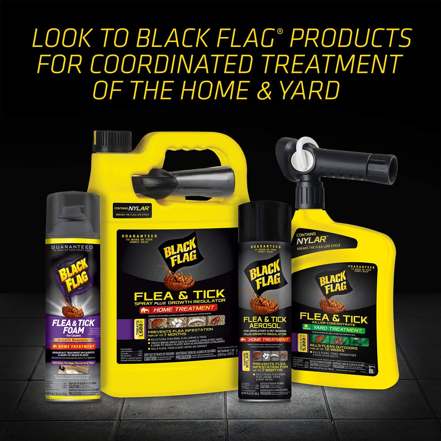 Amazon.com: Black Flag 11093 B00PVN1ST8 Extreme Flea Killer Plus Growth Regulator RTU, 1-gal, Pack of 1 BLACK: Garden & Outdoor