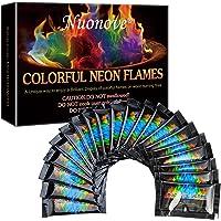 Polvo para Farbige Llamas, Fuego de Arco Iris Místico, Polvo para Fuego Colorido para chimeneas, de Polvo para fogata mística con…