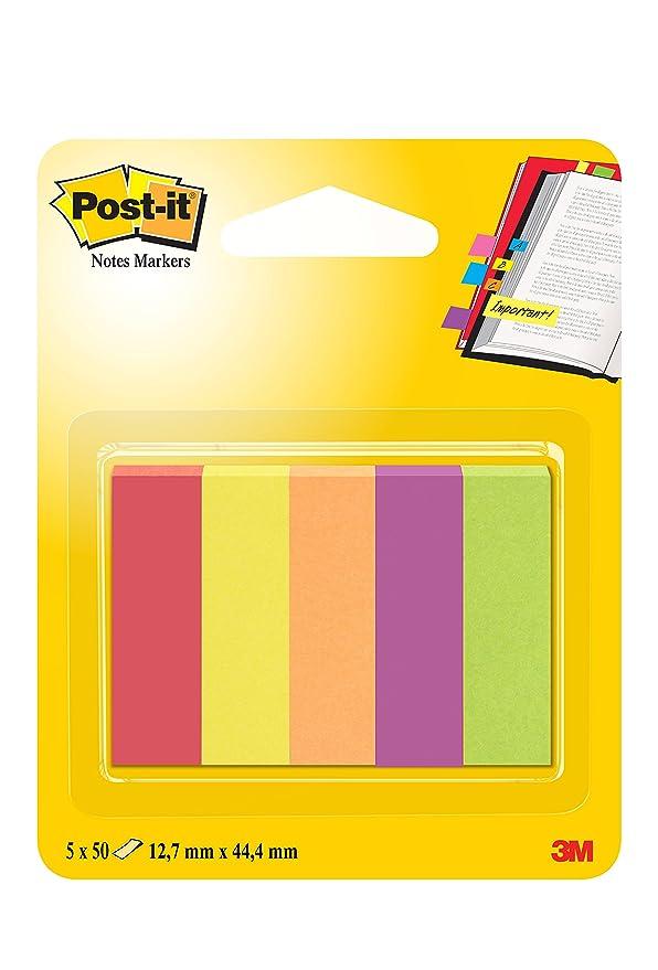 62 opinioni per Post-it 63135 Segnapagina in Carta, 12.7 x 44.4 mm, 5 Colori