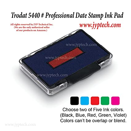 New Trodat 5460 Professional Date Stamp Ink Pad Original Packing Two Colors