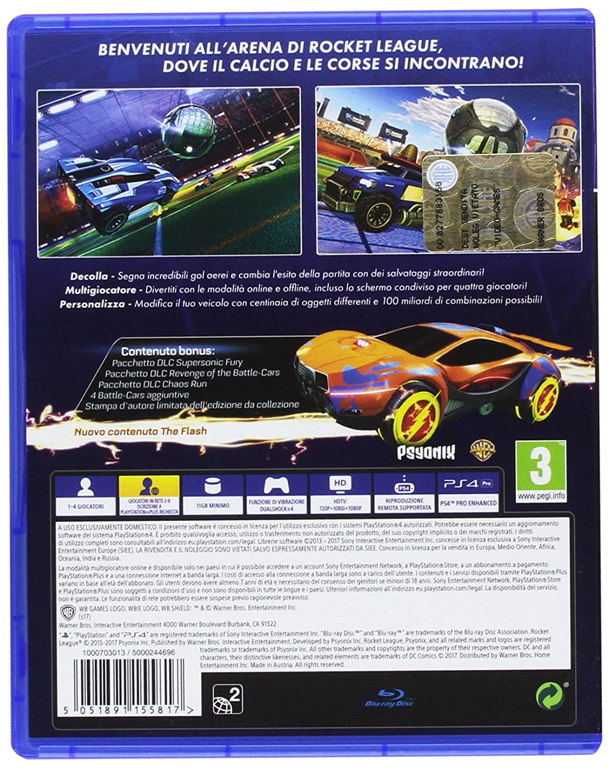 Rocket League - PlayStation 4 [Importación italiana]: Amazon.es: Videojuegos