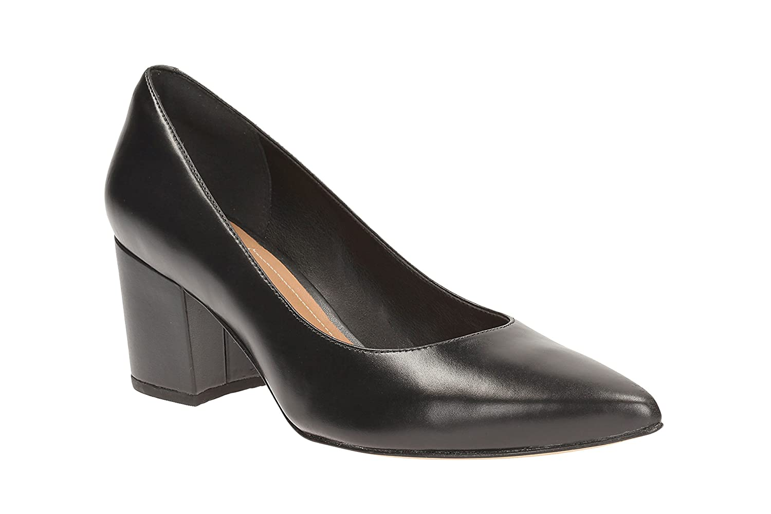 9f8385ef3e48 Clarks Womens Smart Clarks Pravana Rose Leather Shoes In Black   Amazon.co.uk  Shoes   Bags