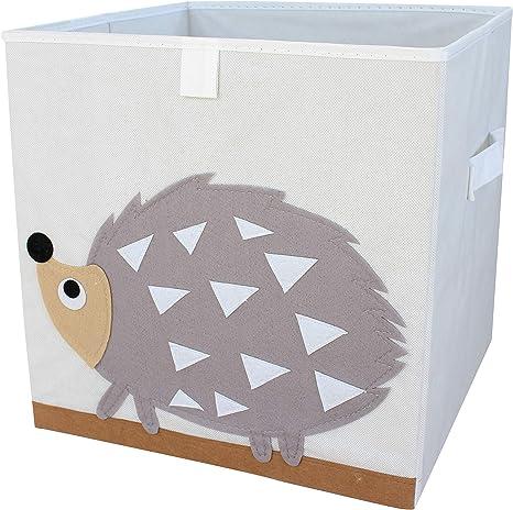 miRio • Caja de almacenamiento para niños con juguetes con motivos animales   Toy box para niños Cubo/caja de pedido   muy estable   33x33x33cm (erizo): Amazon.es: Bebé