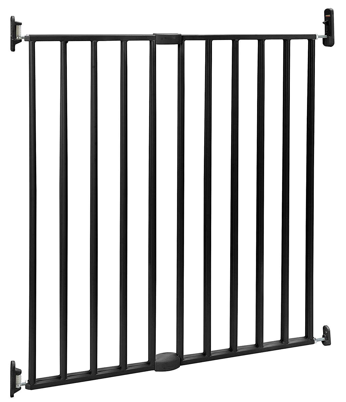Zertifiziertes Treppenschutzgitter Metall Von BOMI® | Maja Baby Gitter  Türsicherung Schutzgitter | Treppengitter Kinder Und Hunde Absperrgitter |  Schwarz ...