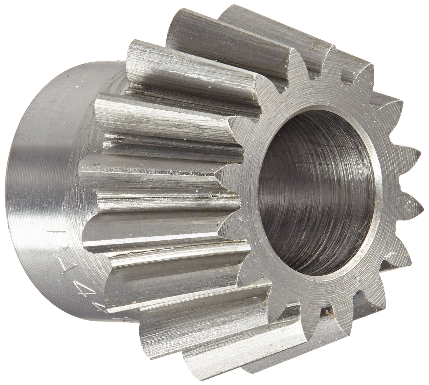 Boston Gear PA4416Y-P Bevel Pinion Gear, 4:1 Ratio, 0.500'' Bore, 16 Pitch, 16 Teeth, 20 Degree Pressure Angle, Straight Bevel, Steel