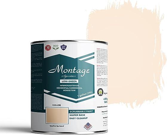 Montage Signature Interior Exterior Eco Friendly Paint Navajo White Low Sheen 1 Gallon