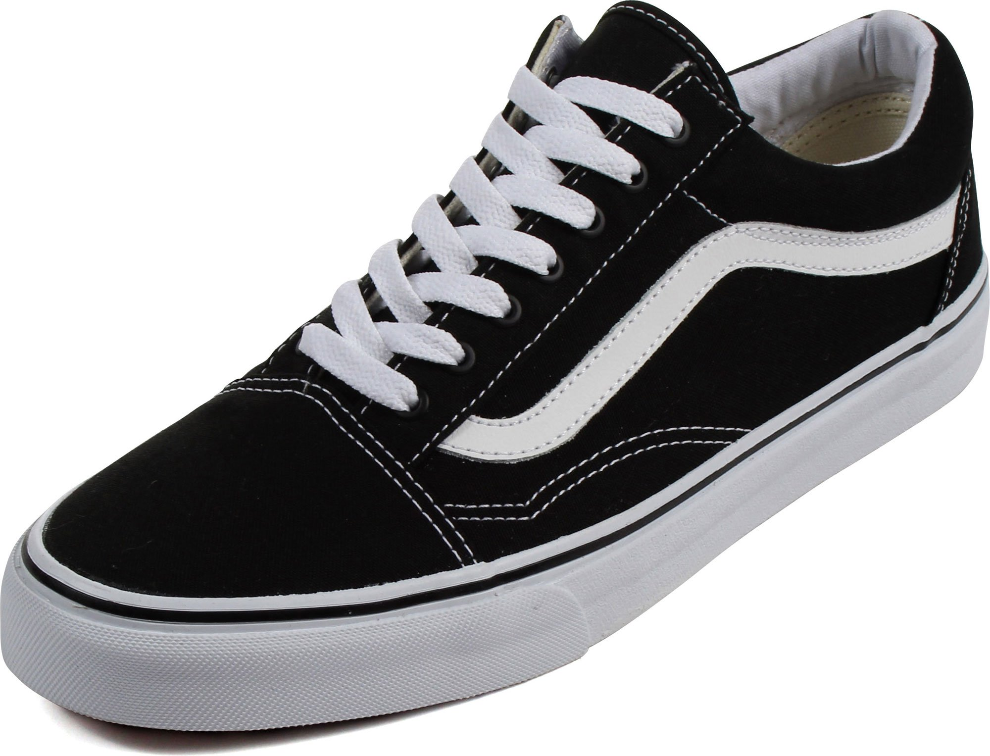 ef24d09380f9ea Galleon - Vans Unisex Old Skool Black True White Skate Shoe 9.5 Men US   11  Women US
