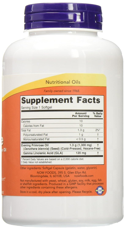 Now Foods Super Primrose 1300mg, 120 gels Pack of 2